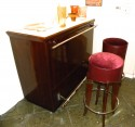 Dramatic Art Deco Bar with Light-Up Top  in room