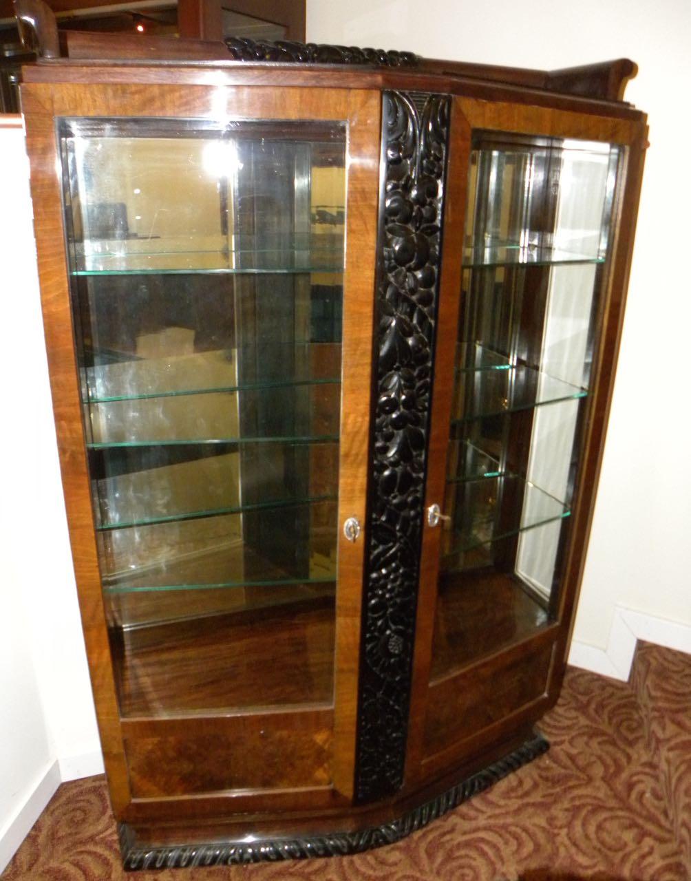 european art deco display cabinet vitrine bedroom art deco collection. Black Bedroom Furniture Sets. Home Design Ideas