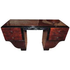Unique Symmetrical Art Deco Desk Vanity French
