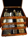 Classic Art Deco Complete Set of Silverware In fitted box