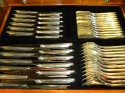 Classic Art Deco Complete Set of Silverware In fitted box knife drawer
