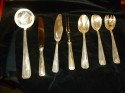 Classic Art Deco Complete Set of Silverware In fitted box serving pieces