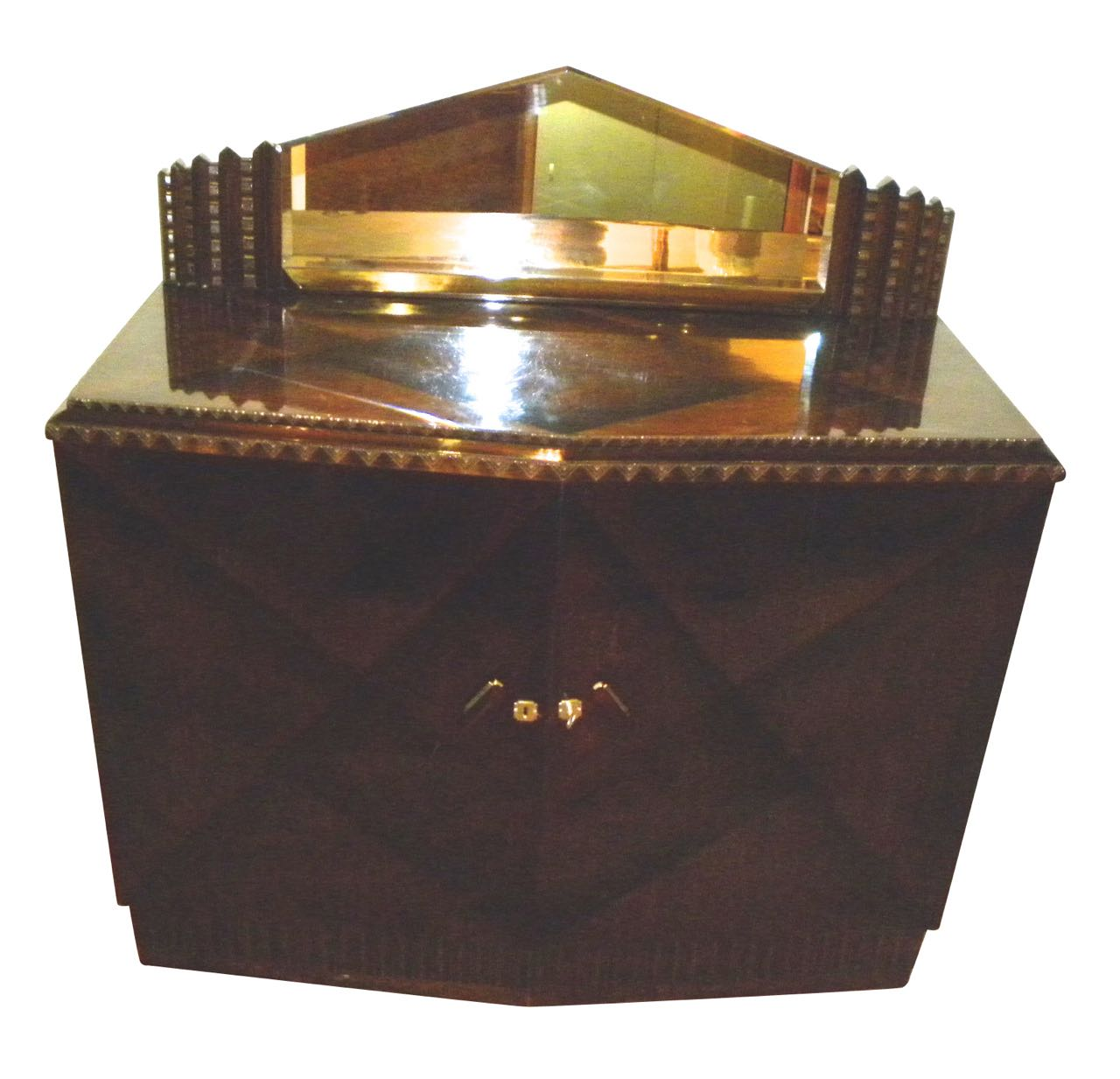 European Art Deco Credenza with Lacquered Palisander Finish