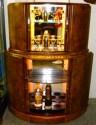 English Double Deck Demi-Lune Bar 1930's Cocktail