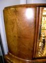 English Double Deck Demi-Lune Bar wood detail