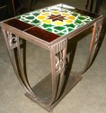 Vintage Art Deco Tile Occasional Tables front