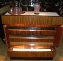 Unique Art Deco Stand behind Lighted Bar