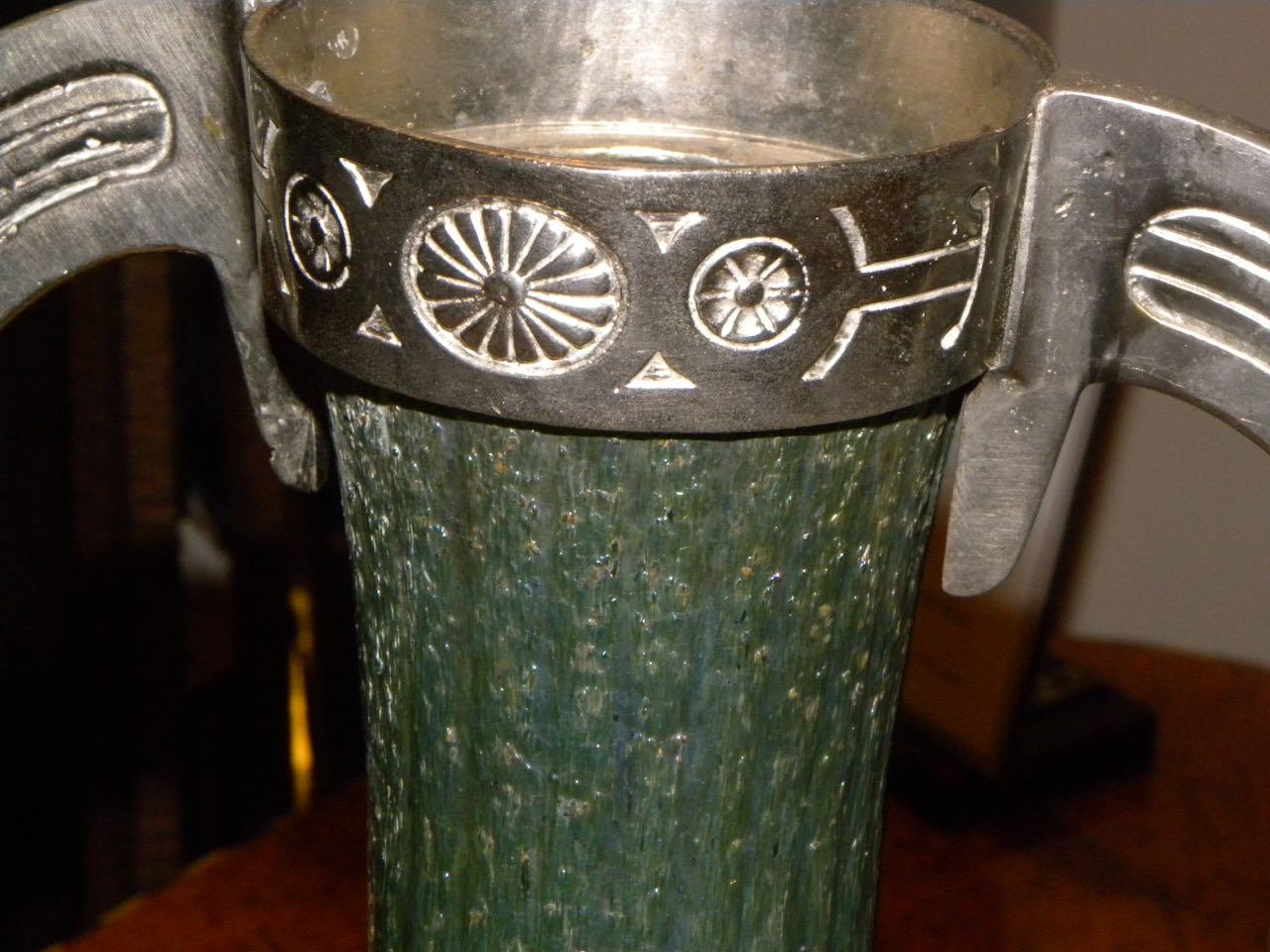 Art Nouveau Loetz Glass Vase with Metalwork | Glass | Art ...