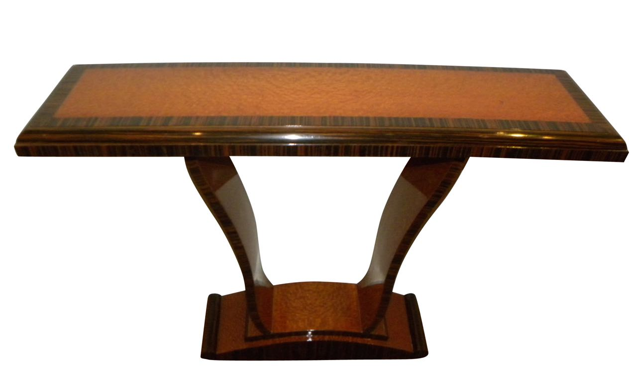 Two Tone Wood Console Art Deco