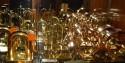Chase Sentinel Bakelite & Brass Bookends by Walter Von Nessen