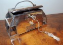 WMF Silver Jewel Casket with lock and key