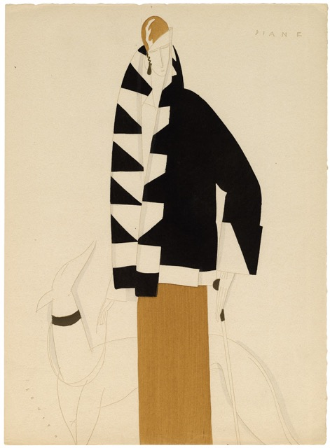 Eduardo Benito fashion portfolio: 12 pochoir  plates called La Derniere Lettre Persane