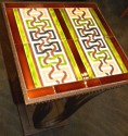 Custom Art Deco Iron and Tile End Table