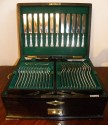 Glorious Mappin & Webb Art Deco Complete Set of Silverware in Chest