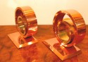 Industrial Moderne Art Deco Bookends like Chase