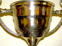 1930's Silver-plate large Trophy Love Cup champagne
