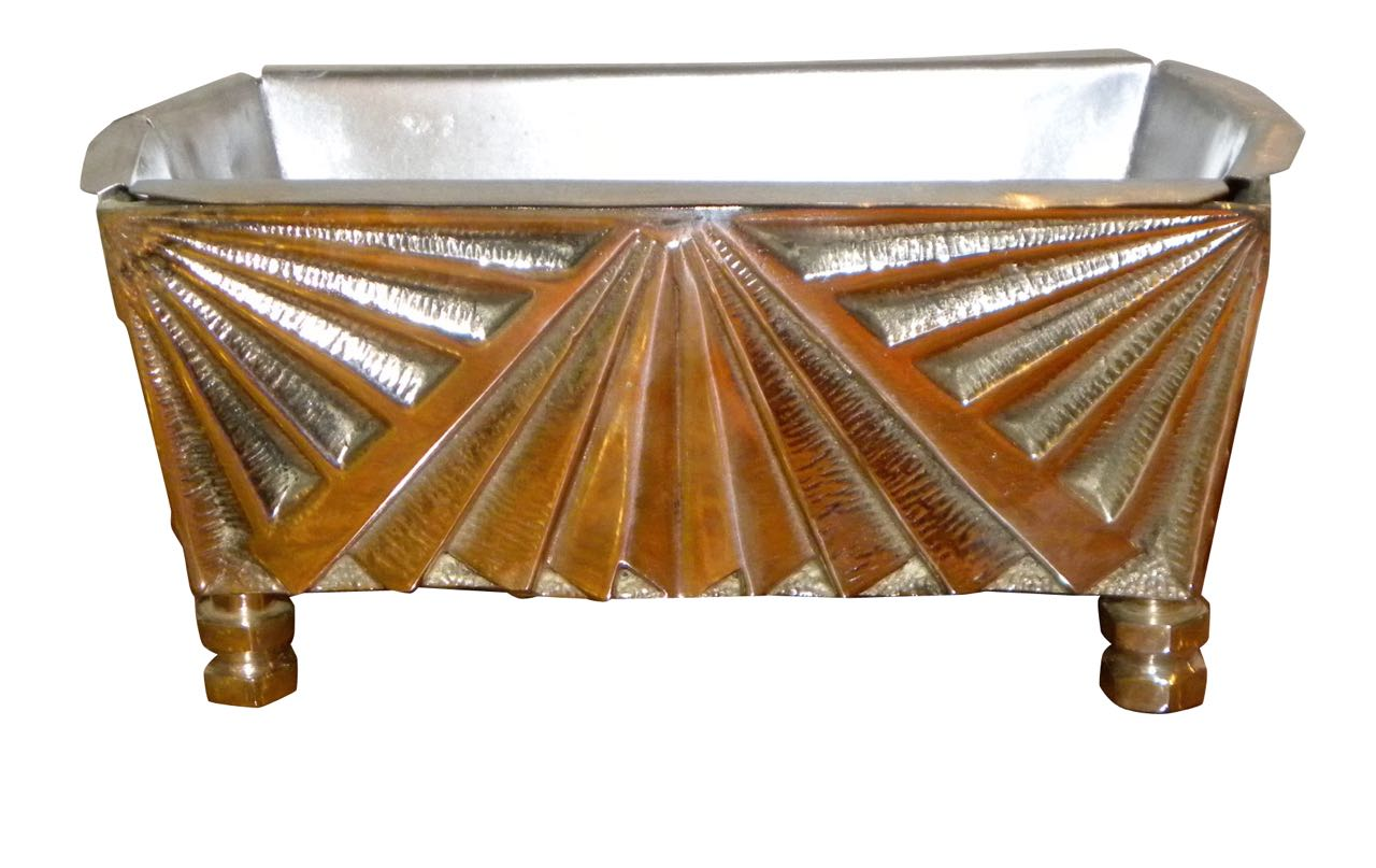 Silver Bronze Art Deco Planter
