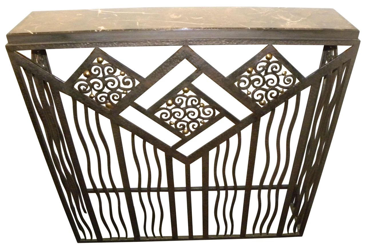 Art deco style furniture - Custom French Style Iron Console Radiator Cover
