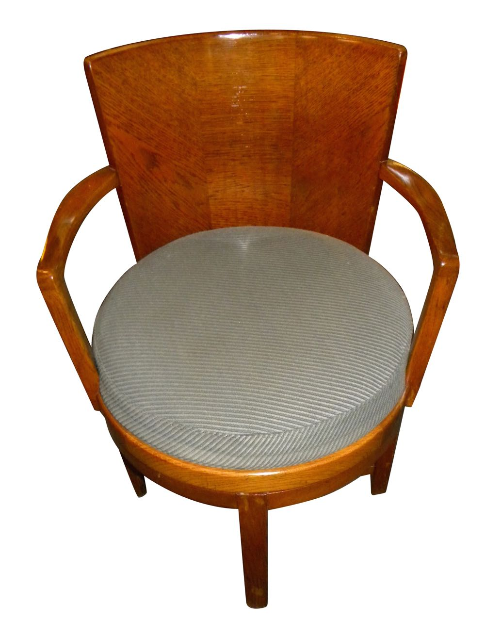 Original art deco swivel oak desk chair