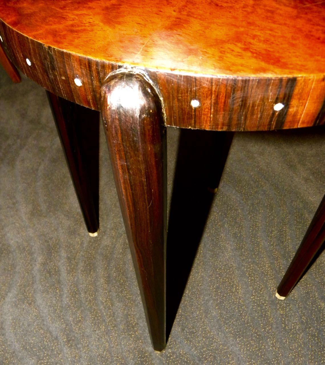 Ruhlmann Style Custom Art Deco Side Table Small Tables