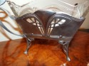 WMF Art Nouveau Centerpiece Silver & Glass