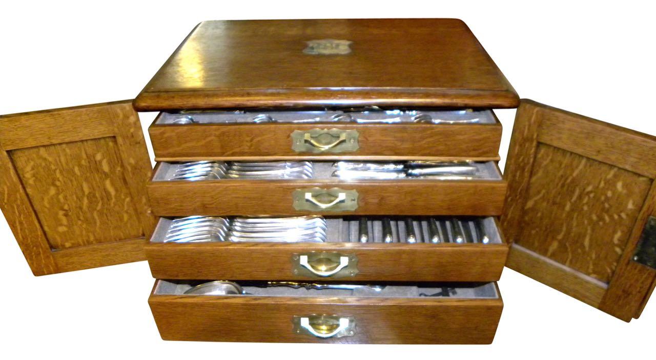 Christofle Flatware Art Nouveau Service  for 12 in Original Box