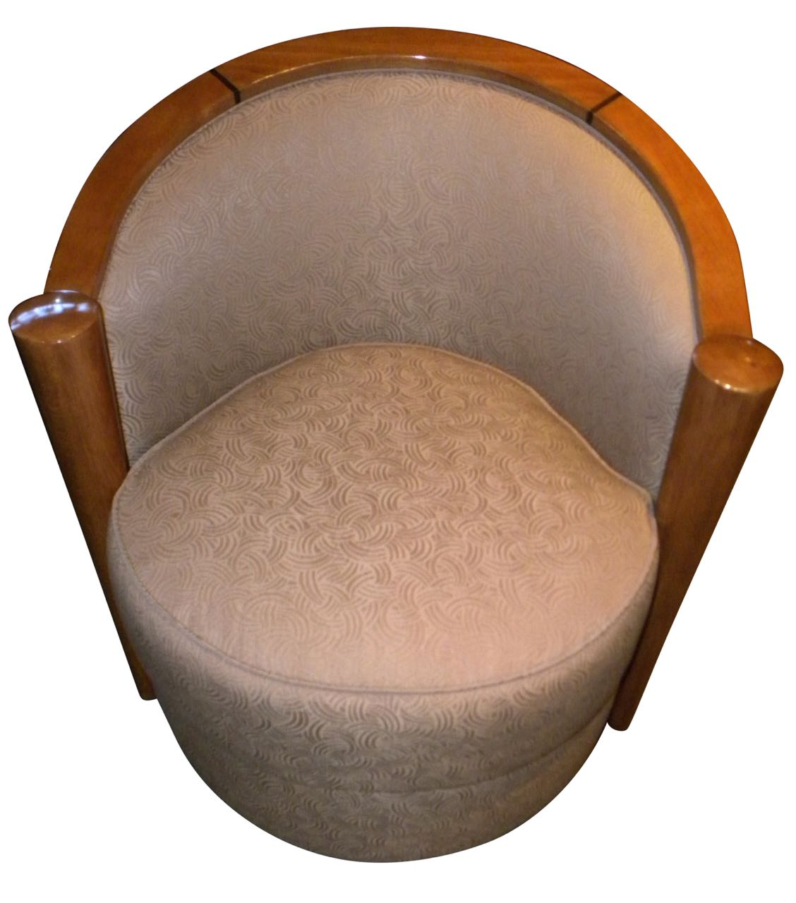 art deco cocktail swivel club chairs wood frame just added a