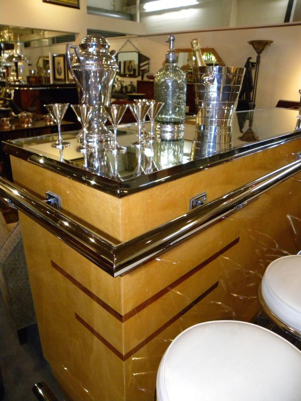 French Art Deco Glamour Bar and Bar Stools Bars Art  : 2128i from artdecocollection.com size 960 x 1280 jpeg 166kB