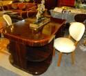 Original French Macassar Art Deco Partners Desk