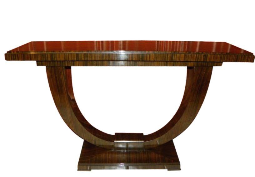 Art Deco Console with U Shaped Base