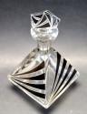 Czech Modernist Art Deco Decanter Liqueur Bottle 6 Glasses K. Palda