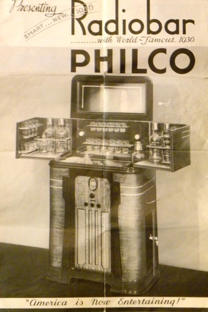 philco art deco complete radio bar bars art deco. Black Bedroom Furniture Sets. Home Design Ideas