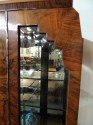 Beautiful Book Match Veneer Vitrine - Art Deco