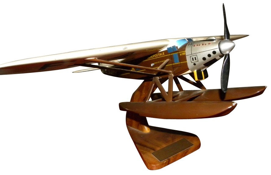 Original French Wood Model Airplane Latecoere