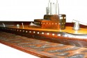 Art Deco Submarine model carved wood metal