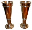 Silver-plate Art Deco Chalice Cups or Goblets