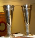 Silver-plate Art Deco Chalice Cups or Goblets pair