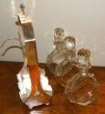 3 Crystal  Bottle Tantalus Cocktail set