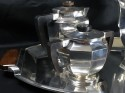 Christofle Gallia 5 piece Coffee Tea Service Luc Lanel 1930