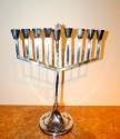 sterling silver art deco menorah