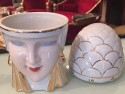 Very Rare Original Robj Bonbonniere Candy Jar French Art Deco -Queen
