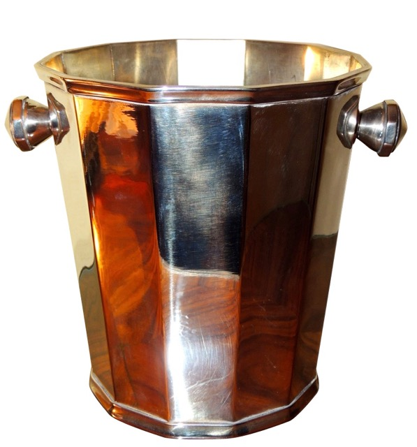 faceted art deco champagne bucket wine cooler
