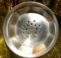 Art Deco Cut Crystal Sterling Martini Shaker top