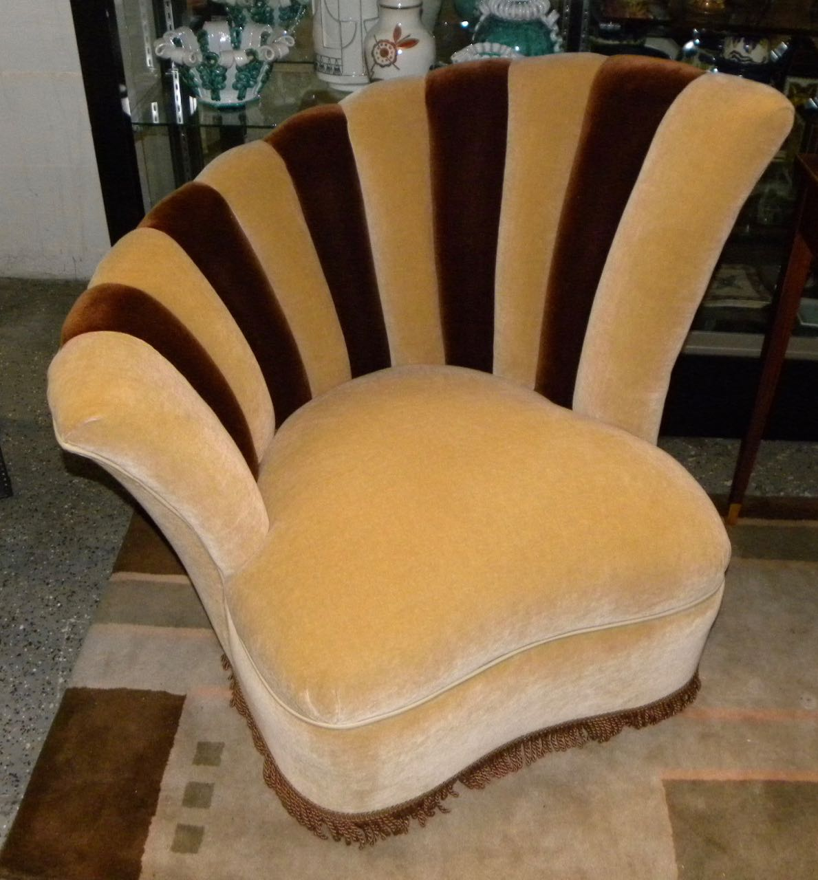 Art Deco Fanned Back Hollywood Swivel Chairs Sold Items