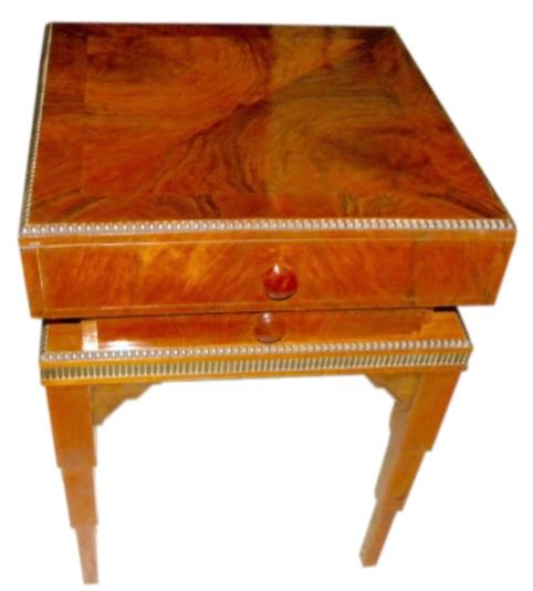 art deco stepped table with storage and drawer art deco replica furniture