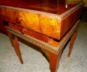 Art Deco Stepped Table with Storage and drawer