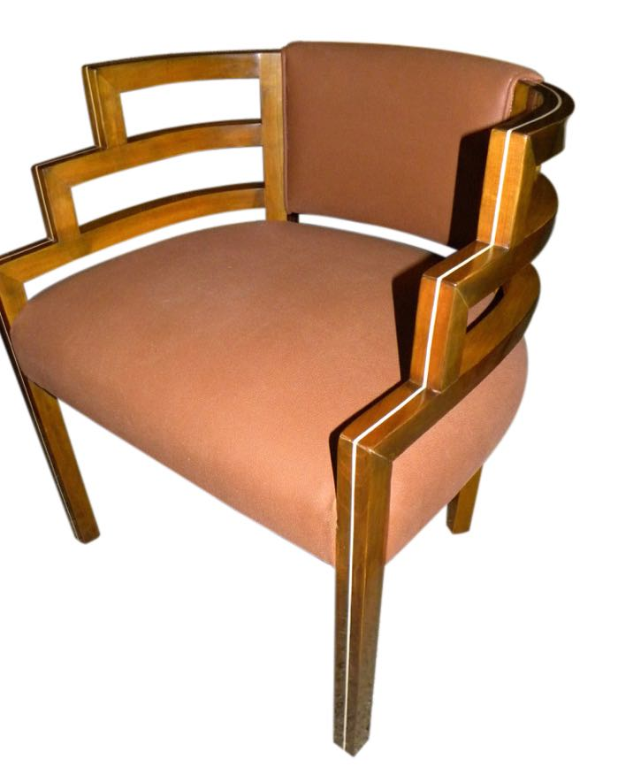 art moderne furniture. kem weber style art deco side chair moderne furniture s