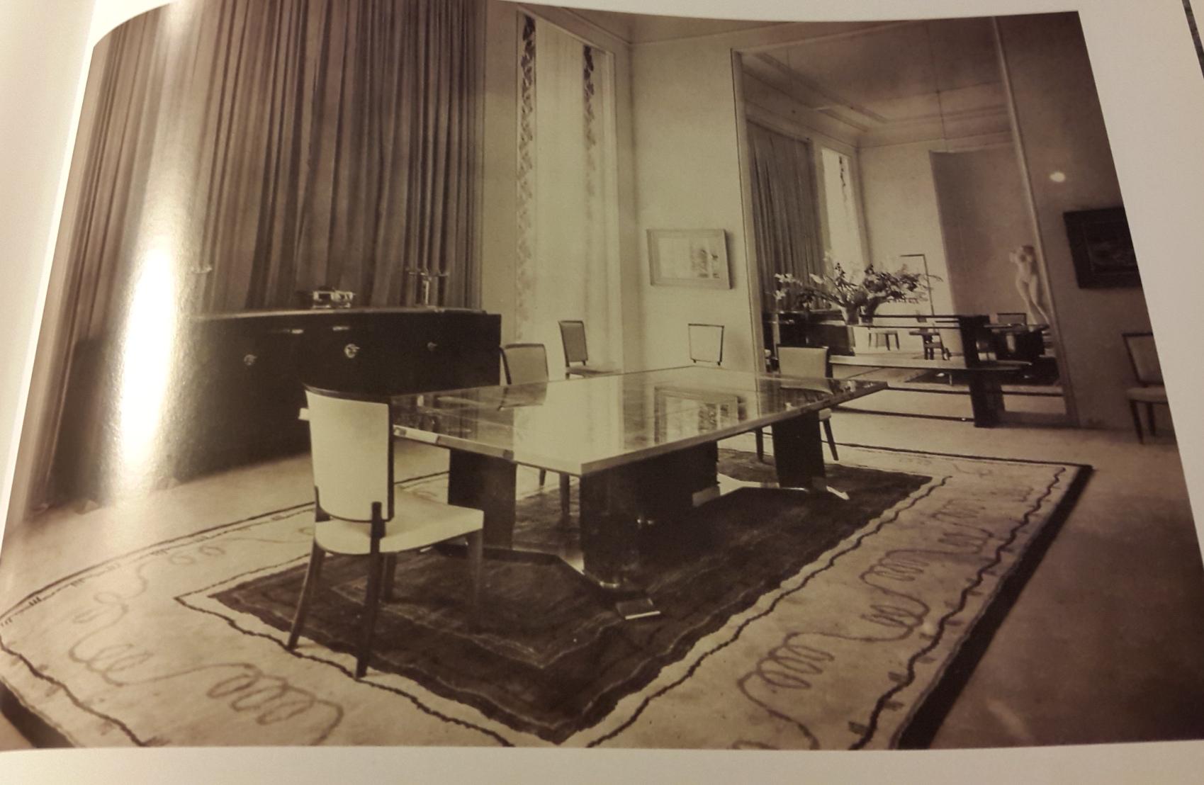 Jules leleu dining room table chairs 1937 paris for Salon leleu