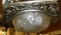 Art Deco Chandelier all original molded multiple glass pieces very large