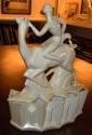 Ceramic Art Deco cubist Woman on antelope